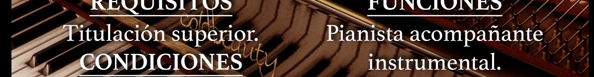 OFERTA DE EMPLEO | PIANISTA ACOMPAÑANTE